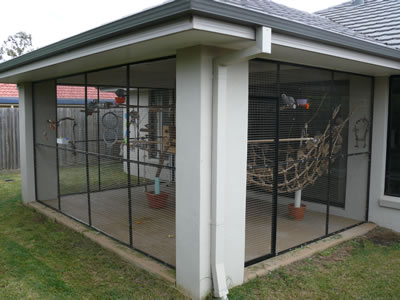 Fabulous And Another Enclosure That A Client Had Built For Her Macaw With Enclosed  Patio Plans