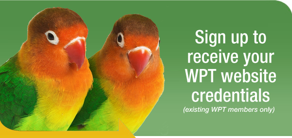 Sign up to receive your WPT website credentials (existing WPT members only)